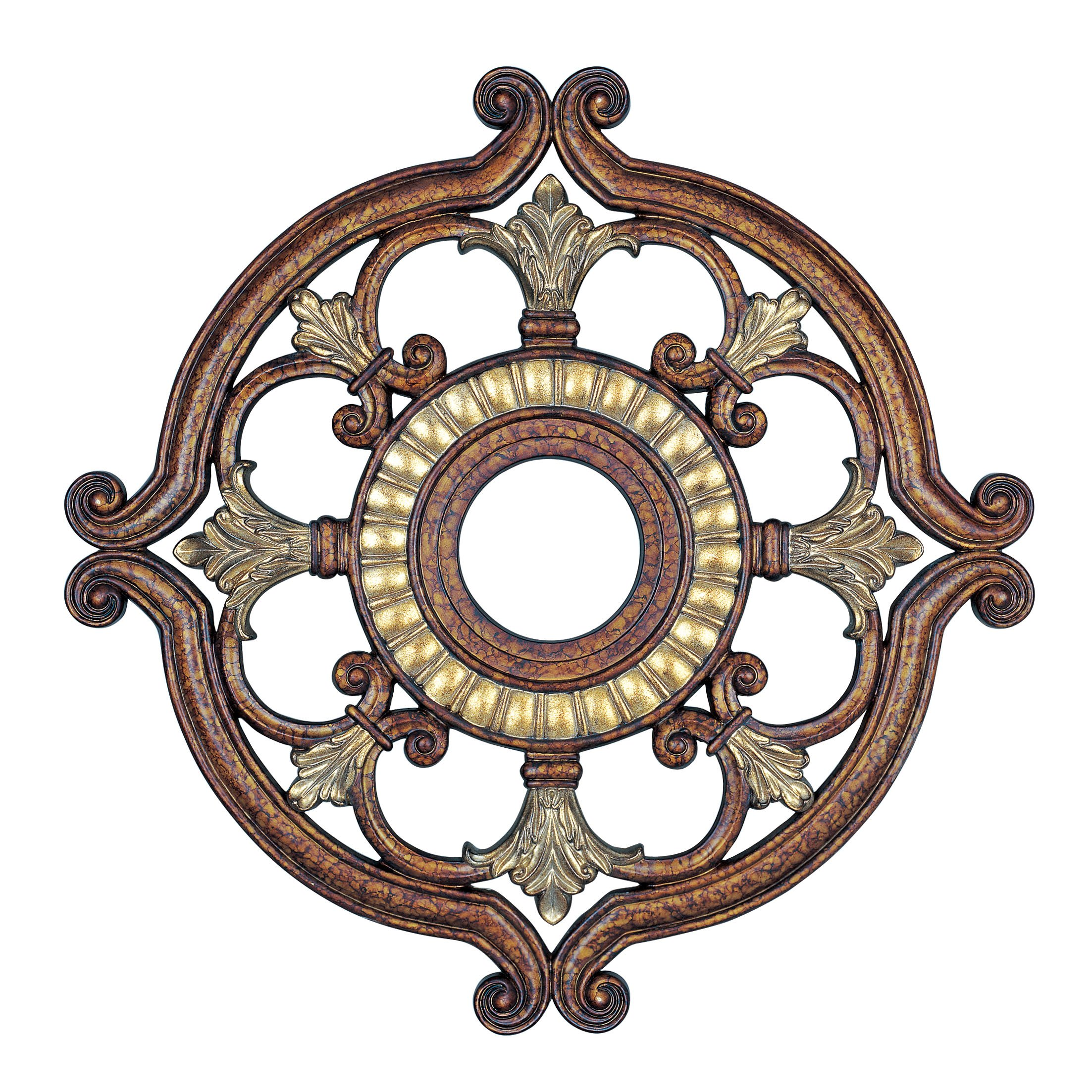 Livex Lighting 8216-64 Ceiling Medallion in Palacial Bronze with Gilded Accents by Livex Lighting