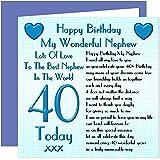 Nephew 40th Happy Birthday Card