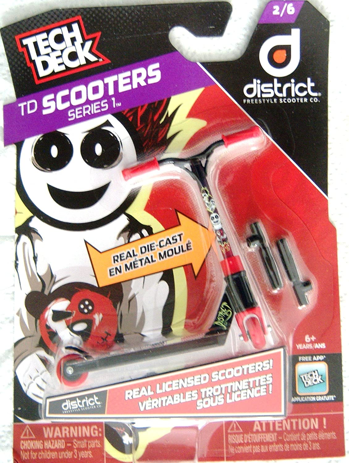 Amazon Com Tech Deck Scooters Series 1 District Freestyle Scooter Co 2 6 Toys Games