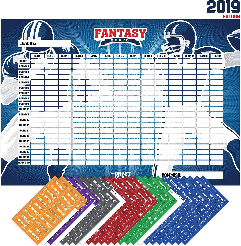 Joyousa Fantasy Football Draft Board 2019 Kit con Etiquetas de ...