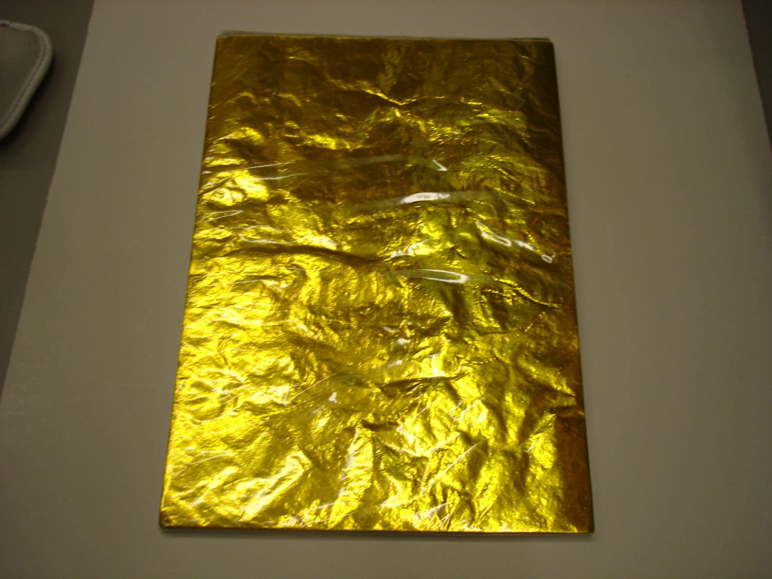 Metalic Gold Foil Paper For Wrapping Chocolate/Sweets PK 50 sheets ...