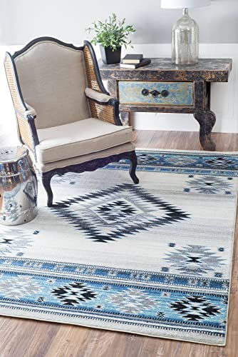 nuLOOM Jewel Vintage Area Rug, 4 x 6 , Aqua