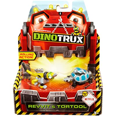 Dinotrux Diecast, Revvit & Tortool (2-pack): Toys & Games