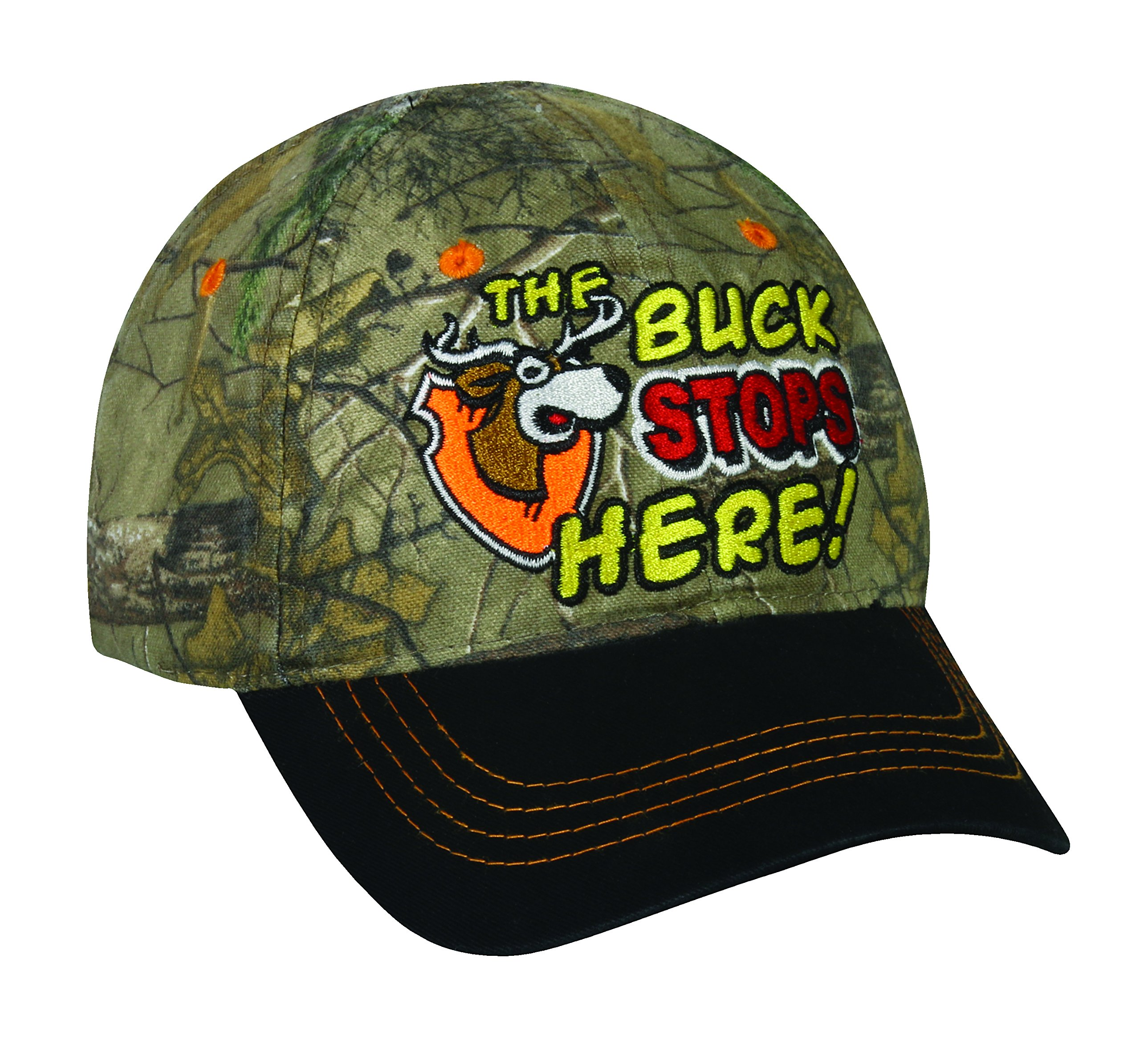 Mossy Oak Toddler The Buck Stops Here Cap, Realtree Xtra Camo/Black