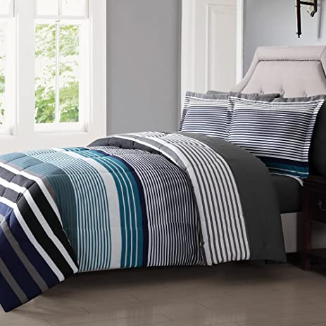 blue navy sets comforter of with and size red nursery together set full white bedding striped