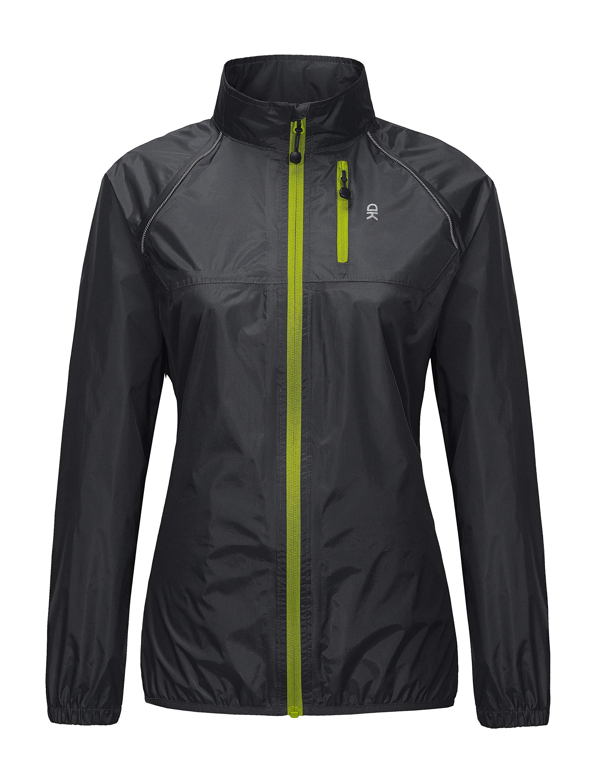 Little Donkey Andy Women's Waterproof Cycling Bike Jacket, Running Rain Jacket, Windbreaker, Ultralight and Packable Black XS by Little Donkey Andy