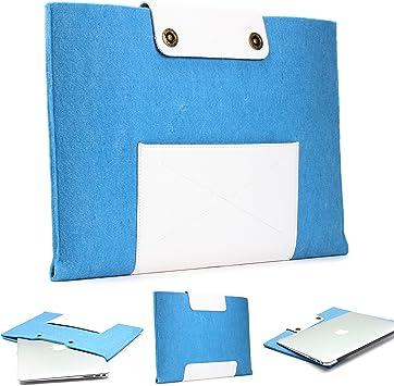 Urcover Funda Portátil/Tablet + Bolsillo | Macbook Pro 15 Pulgadas | Estuche Protector Ordenador Moderno en Fieltro en Azul Claro + Blanco | Cover Case Laptop iPad Samsung: Amazon.es: Electrónica