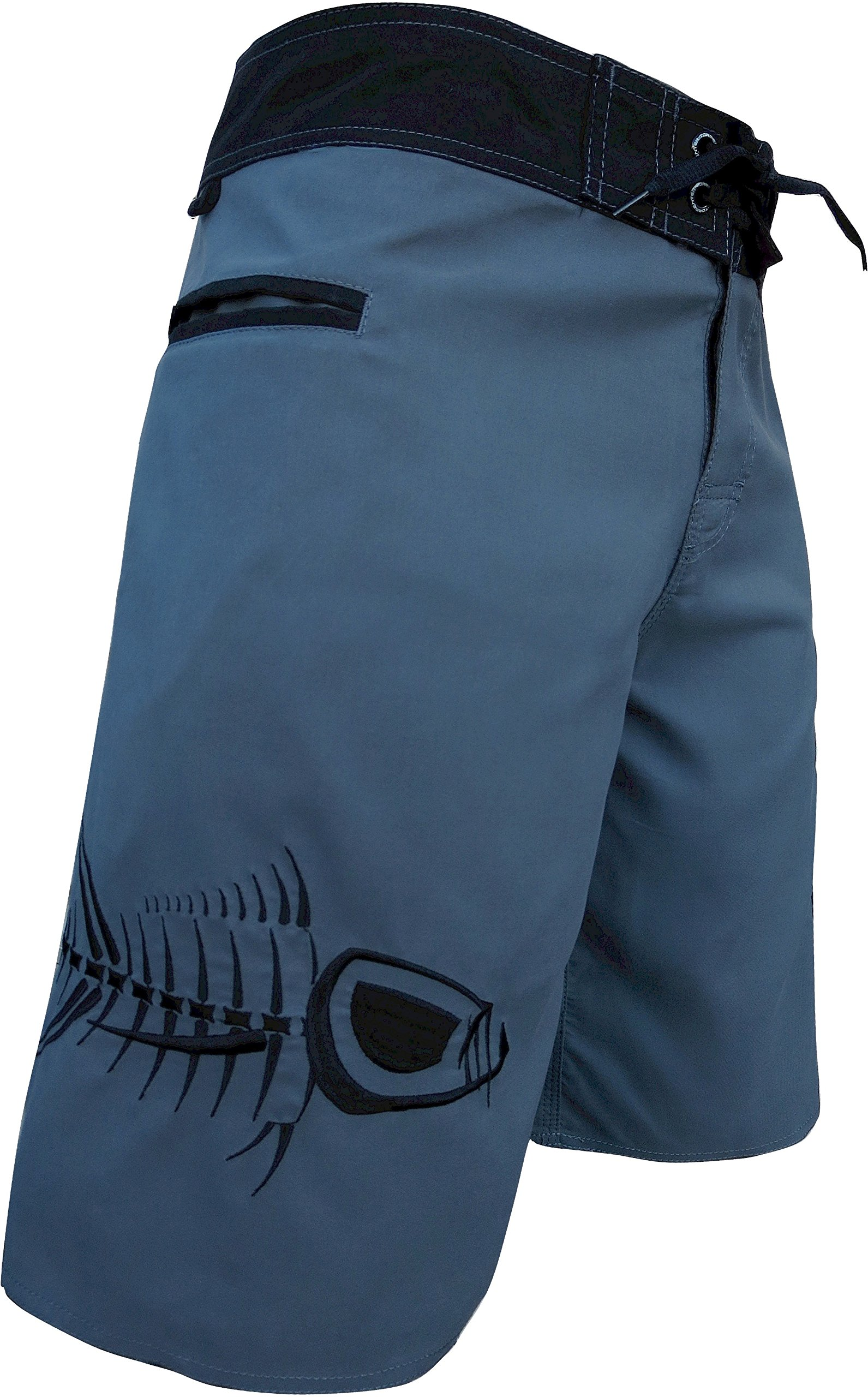 Tormenter Men's 5-Pocket Waterman Fishing Board Shorts (Gray, 36)