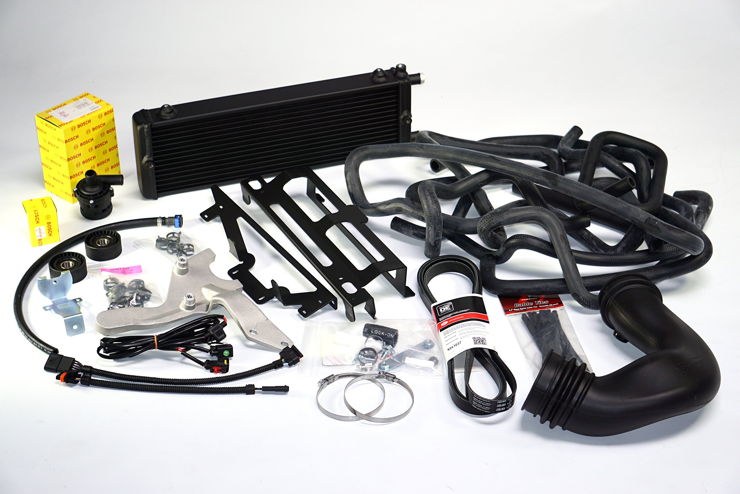 Sprintex 264A1001 Black Standard Intercooler Upgrade Kit Jeep JK 3.8L Intercooler upgrade kit