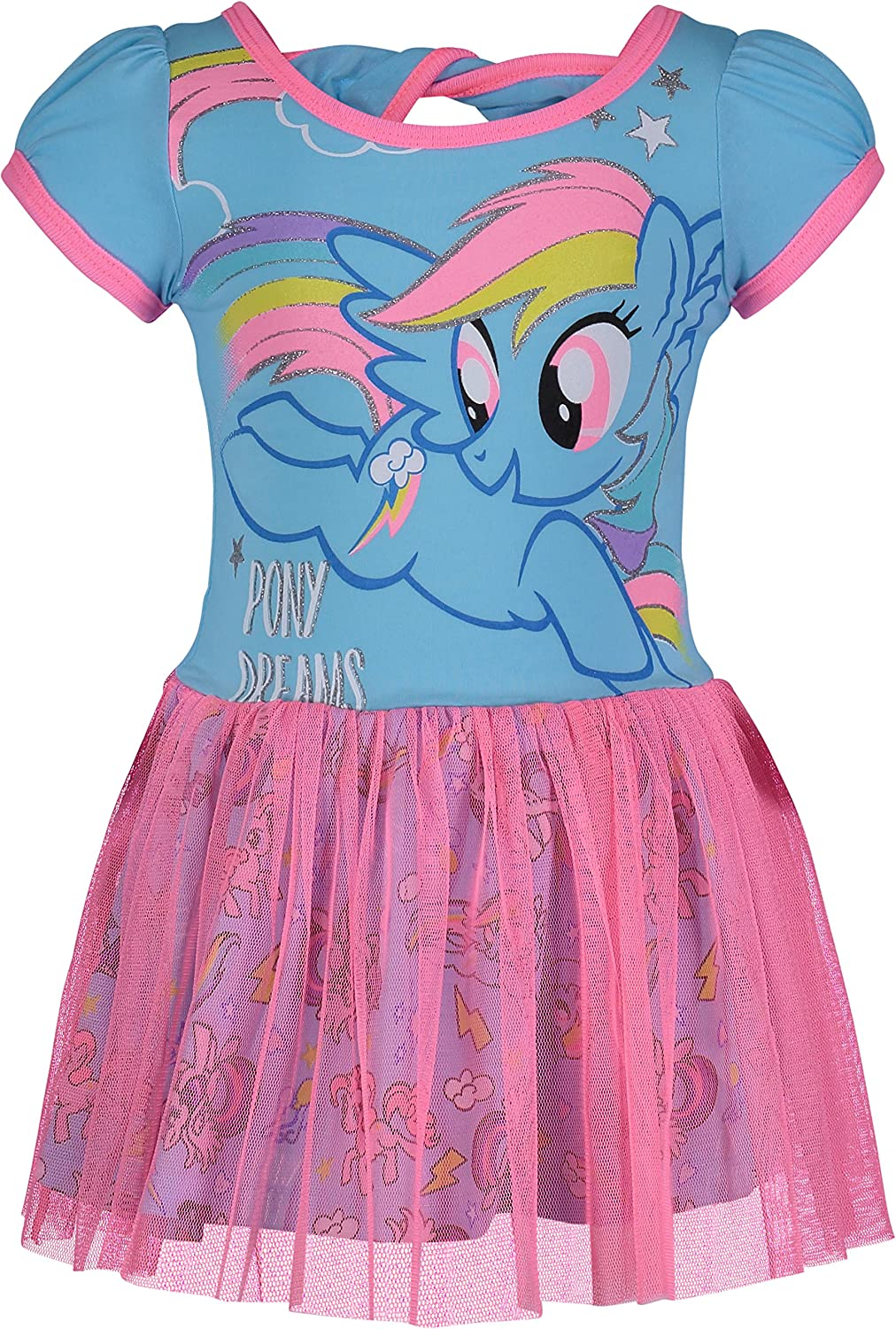 Girl 2 Pack Cotton Dresses with My Little Pony detail 1 Pink /& 1 White Baby