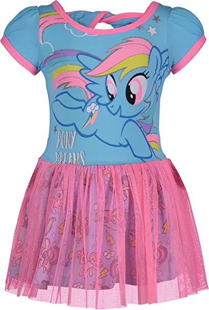 2472926e2 Amazon.com  My Little Pony Toddler Girls  Tulle Dress Rainbow Dash ...