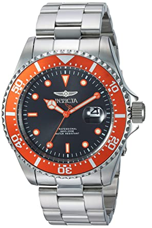 Invicta 22022 Pro Diver Reloj para Hombre acero inoxidable Cuarzo Esfera negro: Amazon.es: Relojes