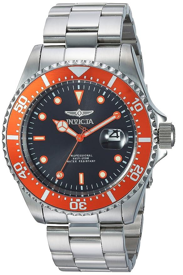 Invicta 22022 Pro Diver Men's Wrist Watch Stainless Steel Quartz Black Dial