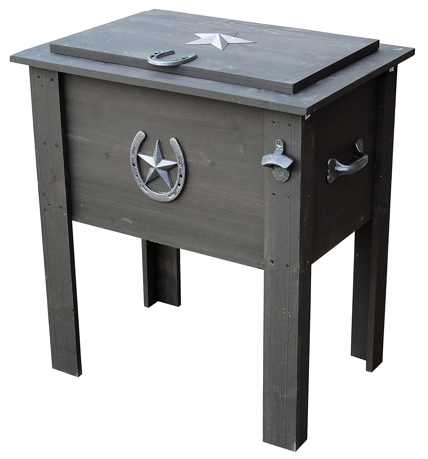 Delightful Amazon.com : Leigh Country TX 93728 Cooler With Grey Wash Stain On Pine  Wood, 54 Quart : Garden U0026 Outdoor