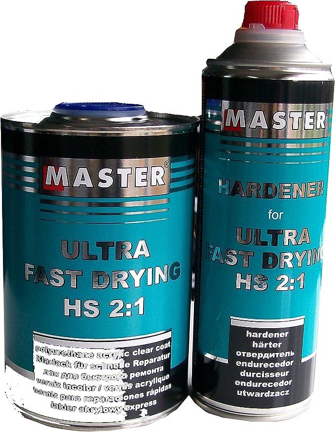 Master Troton Acryl Klarlack 2k Clear Coat Ultra Fast Drying Uhs 2 1 1l Härter 1 2 0 5l Auto