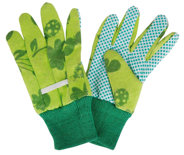 Esschert Design - KG110 Children's Gardening Gloves w/ Nubs - Green - approx. 11 x 0.9 x 20cm Esschert Design Deutschland
