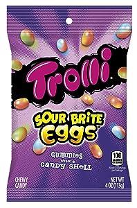 Trolli Sour Brite Eggs Gummy Candy, 4 Ounce Bag, 12 pack