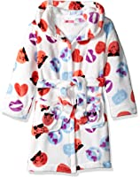 Petit Lem Girls' Emoji Print Robe