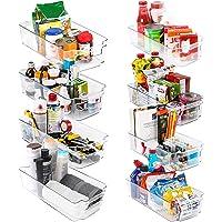 KICHLY – Opberbakken Bijkeuken (Transparant) - Set van 8 containers (4 grote en 4 kleine opbergbakken) Opslag voor…