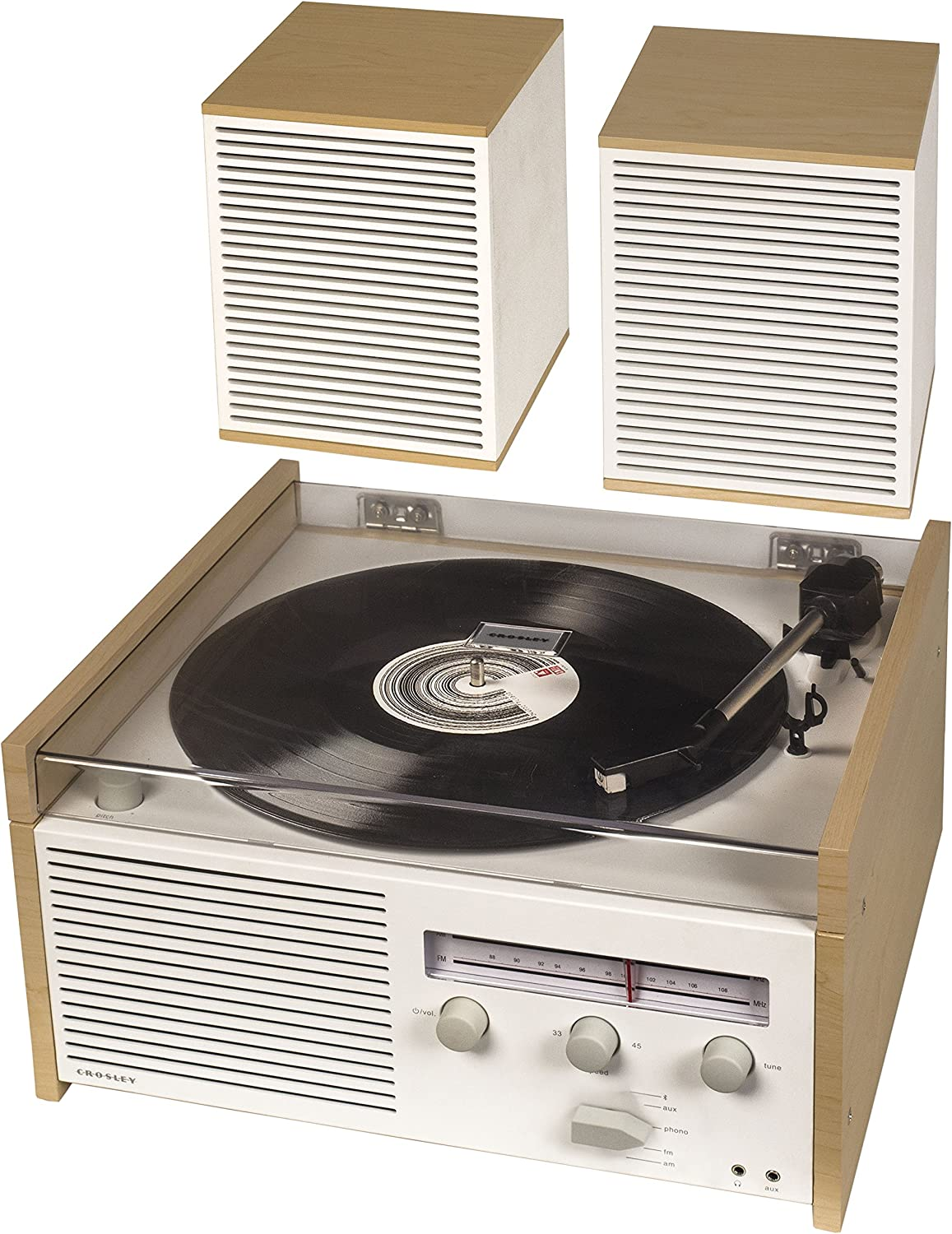 Crosley Switch II Belt Driven 2 Speed Turntable Record Player Shelf System