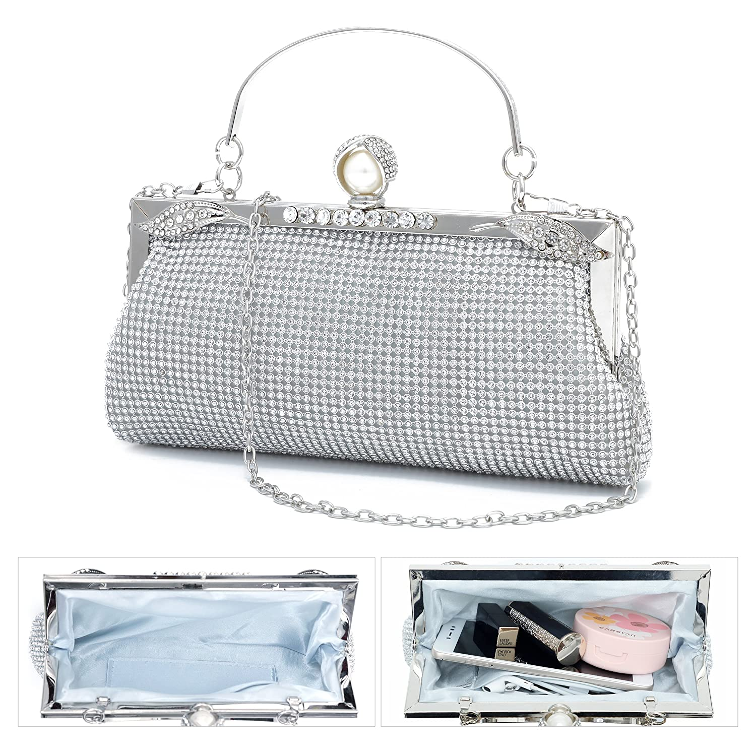 e4dc959c303 YOJOY Women Evening Handbag Clutch Purse for Wedding Party
