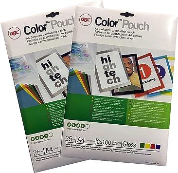 GBC 490561 Fundas para plastificar, mate no reflectante, 150 micras, formato A4, paquete con 100 unidades: Amazon.es: Electrónica