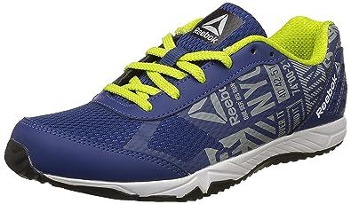 4b2533269ef Reebok Boys Run Voyager Blue Grey Yellow Silver Sports Shoes - 1.5 ...