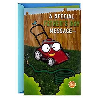 3ebd8dcc Amazon.com : Hallmark Fathers Day Card with Sound (Lawn Mower, You ...
