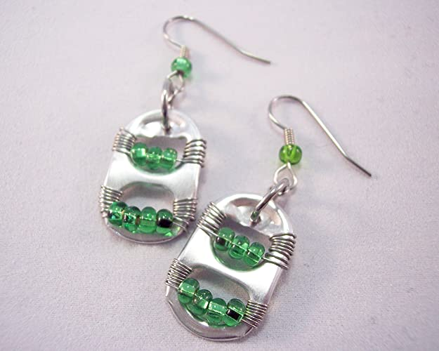 amazon com birthstone inspired pop tab earrings may handmade