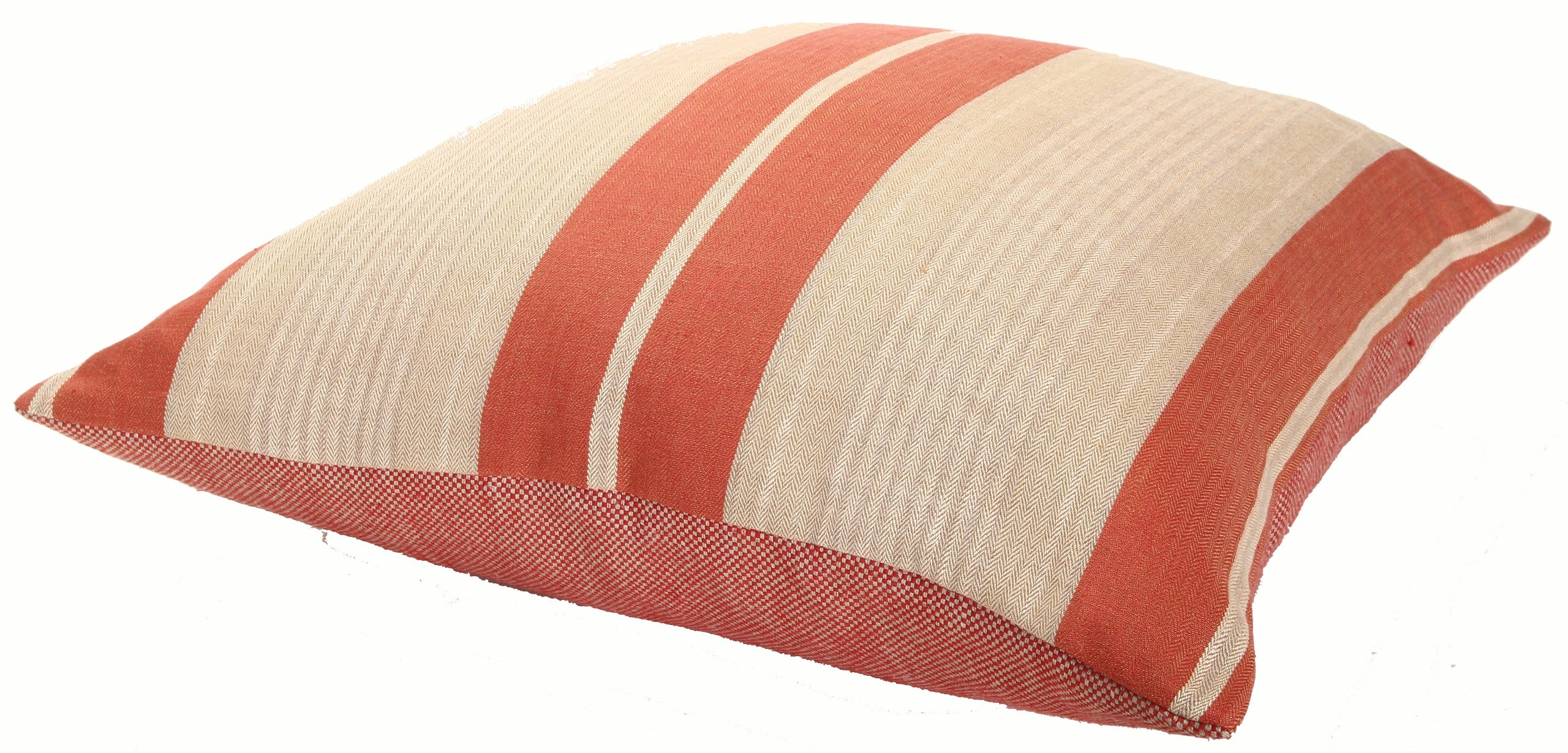 Kathryn Ireland Manchester Italian Stripe Linen 27-Inch Grand Decorative European Pillow, Red