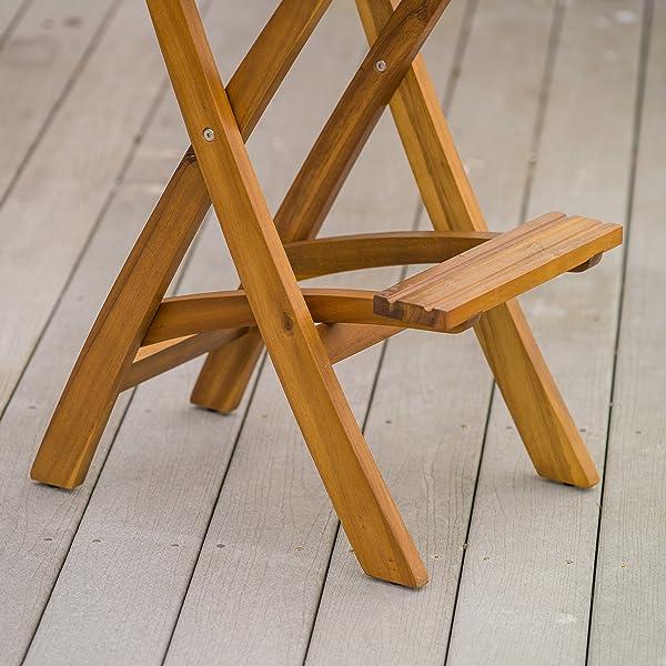 Atlantic Foldable Outdoor Wood Bar Stool