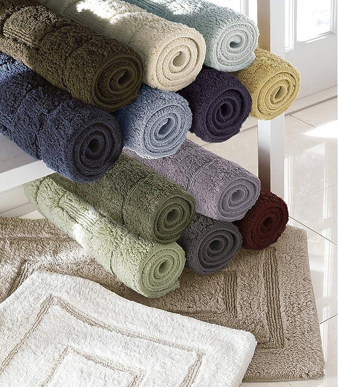 Bliss 100% algodón egipcio lujo baño alfombra, algodón, gris ...