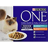 Purina ONE Indoor Formula with Tuna and Chicken in Gravy, 8 x 85 g - Pack of 5