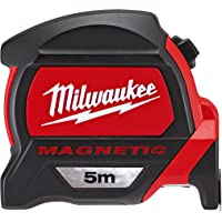 Milwaukee 48227305 Premium Magnetic Tape Measure HP5Mg/27, Red/Black
