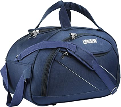673670f57 Lioncrown Polyester 55 cms Travel Duffel Bag   Cabin Bag (Blue): Amazon.in:  Bags, Wallets & Luggage