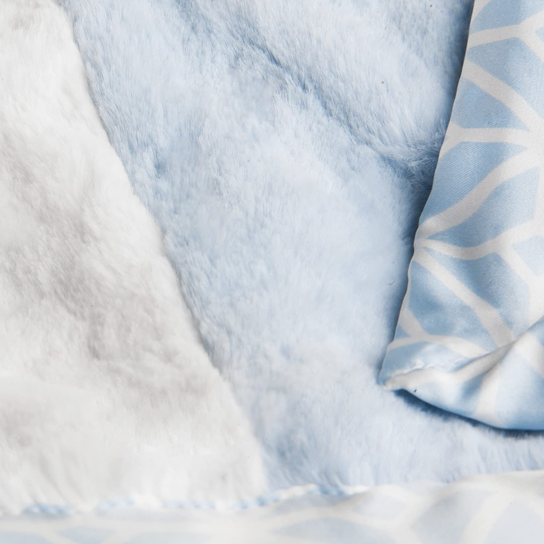 CoCaLo Mix /& Match Patchwork Fur Blanket Aqua Discontinued by Manufacturer