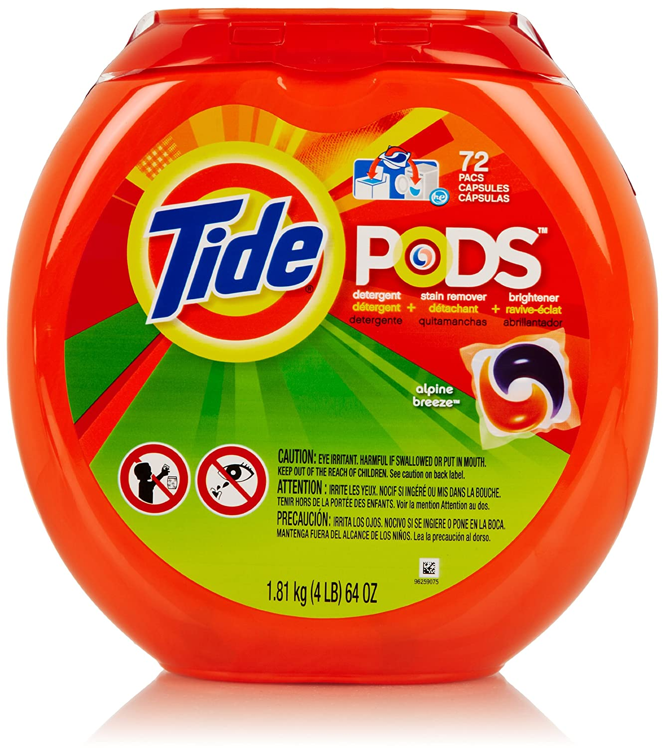 Amazon.com: Tide PODS Laundry Detergent, Alpine Breeze Scent, 72 Count: Health & Personal Care