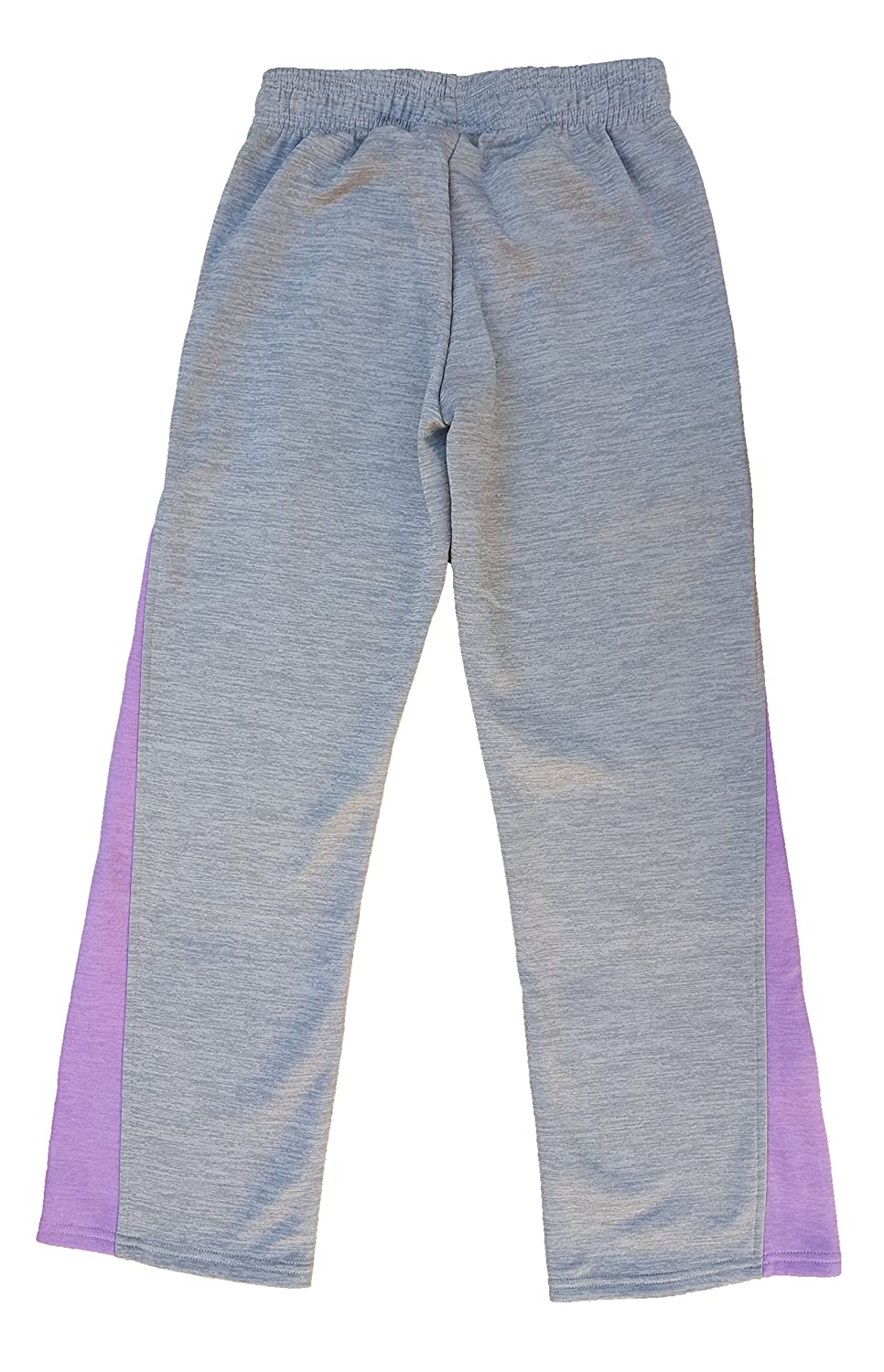 Under Armour Girls Cold Gear Infrared Sweat Pants Gray Purple Youth Small