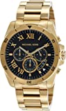 Michael Kors Men's 44mm Brecken Goldtone Stainless Steel Bracelet Watch
