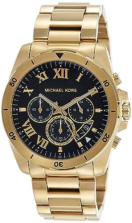 776aa33cdeba Amazon.com  Michael Kors Men s Brecken Gold-Tone Watch MK8481  Watches