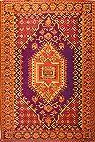 Mad Mats Oriental Turkish Indoor/Outdoor Floor Mat, 5 by 8-Feet, Rust