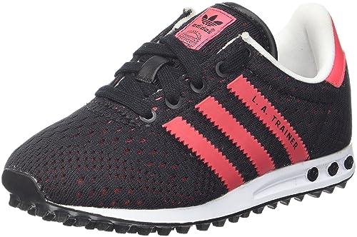 adidas Trainer Junior Sneaker a Collo Basso Unisex Bambini Nero