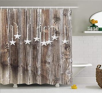 Set 12 Black Star Shower Curtain Hooks Primitive Country Bath Decor Park Designs Holiday Gifts