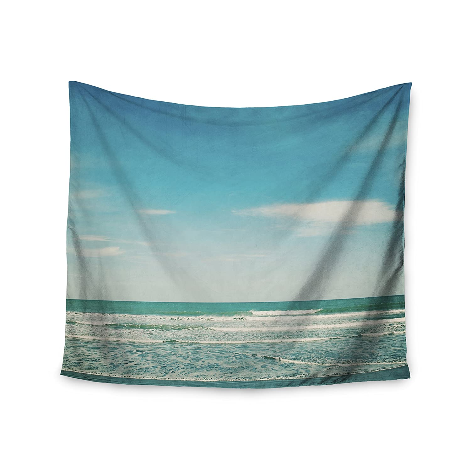 68 X 80 Kess InHouse Susannah Tucker The Teal Ocean Green Blue Wall Tapestry