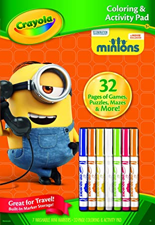 crayola color and activity book minions
