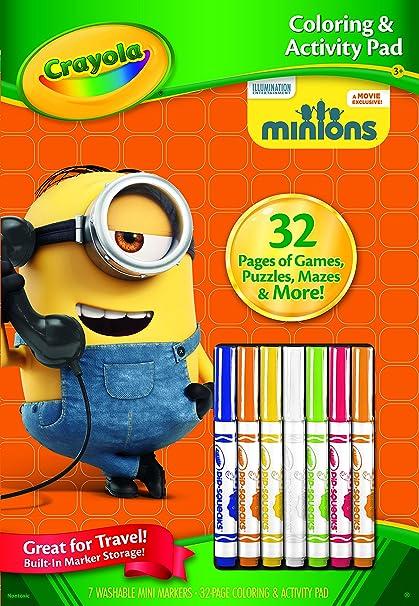 amazon com crayola color and activity book minions toys games