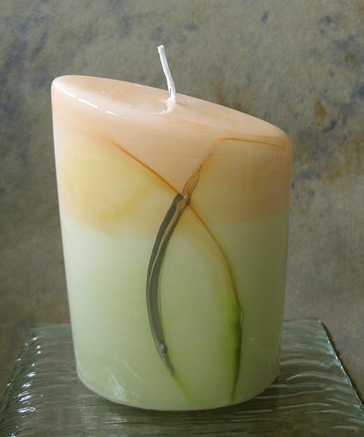 Diseño elegante vela verde diseño de festivas mesa vela ...