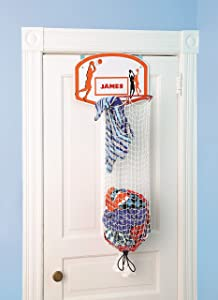 Etna Over the Door Basketball Hamper with Metal Ring & Backboard