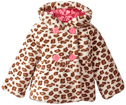 de5ed3c631f8 Amazon.com  Wippette Little Girls  Faux Fur Animal-Print Jacket ...