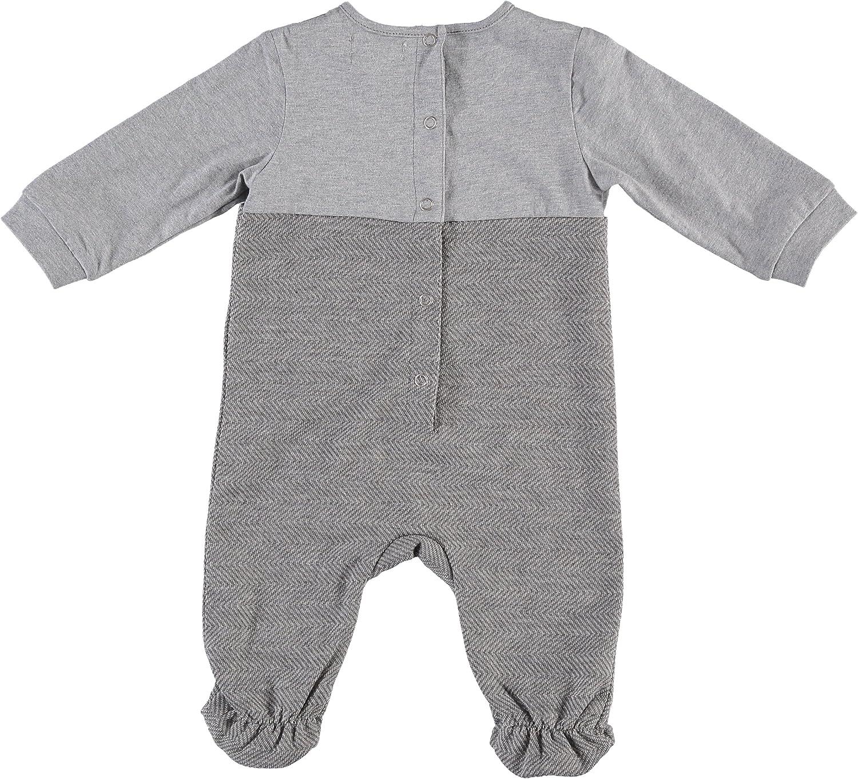 Piccino Piccina Boys Soft Mock Grey Jumper Footsie